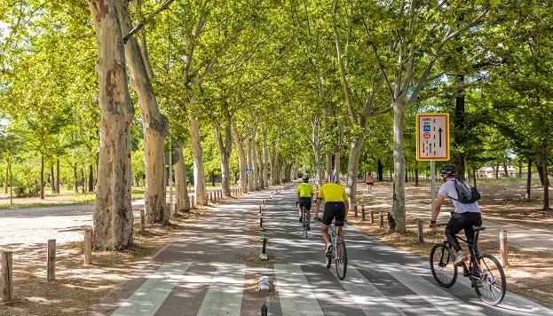 Pasear en bicicleta por la Casa de Campo