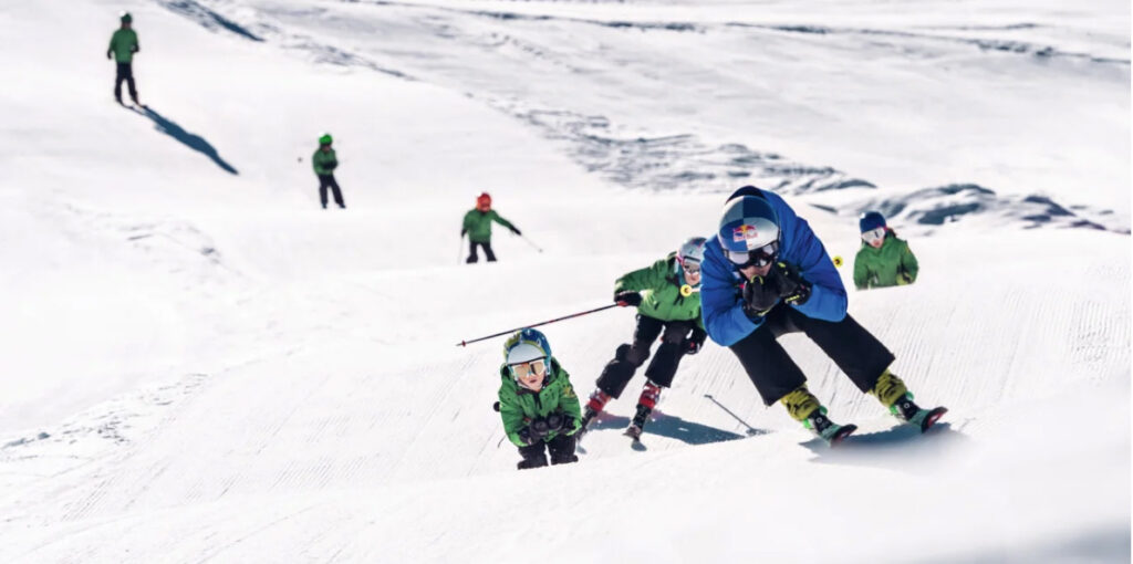 Skicross con la campeona mundial