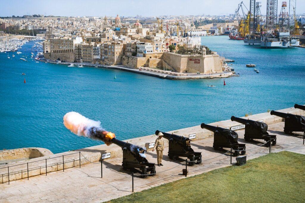 James Gabriel Martin The Saluting Battery Valletta in Malta